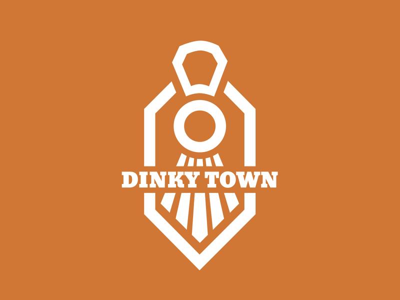 Dinkytown Logo Concept illustration branding logo design