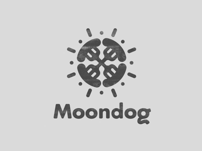 Moondog Gourmet Brats 2014 icon brand design vector logo summer bratwurst hot dog food trucks identity identity design branding branding design design