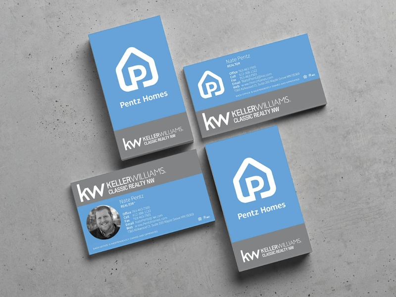 Pentz Homes Business Card business cards design realitor real estate contact card business card brand design vector icon design identity design logo branding identity