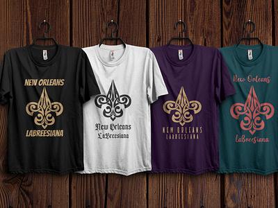 Fleur de lis logo design for tshirt web animation vector icon illustration logo logo design t shirt design t shirt design