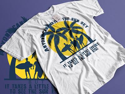 beach t shirt design vector icon branding illustrator design t shirt design t shirt logo design logo illustration