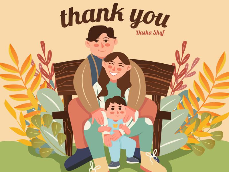 Family Illustration character family tropical vector minimal illustration flat firstshot draft design cover couple branding art