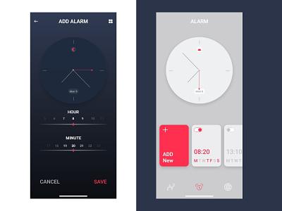 Clock walla minimal logo design ios app design branding ios