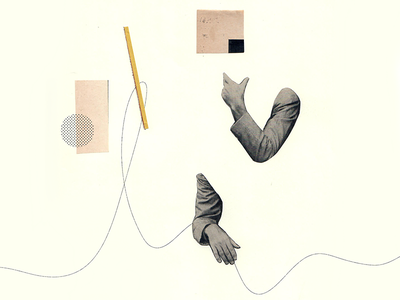 Collage Dribbble art history modern art paper collage cut and paste dada layout graphic design collage