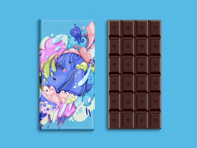 valentine day hearts chocolate pack design