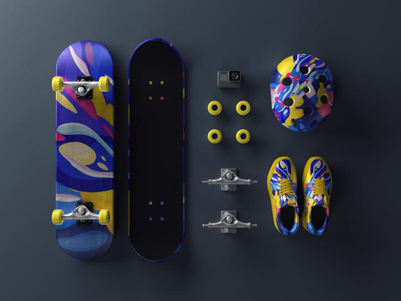 Skateboard girl branding