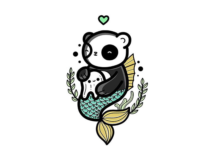 Mermaid panda