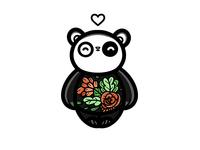 Flower Sleeping Panda