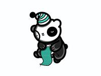 Knitting Sleeping Panda