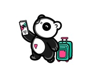 Travel Sleeping Panda