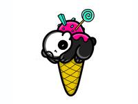Ice cream Sleeping Panda