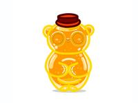 Honey Bottle Sleeping Panda