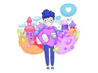 Startupper procreateapp likes san francisco startup concept ipadpro illustration procreate draw cute