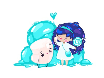 Girl And Marshmallow