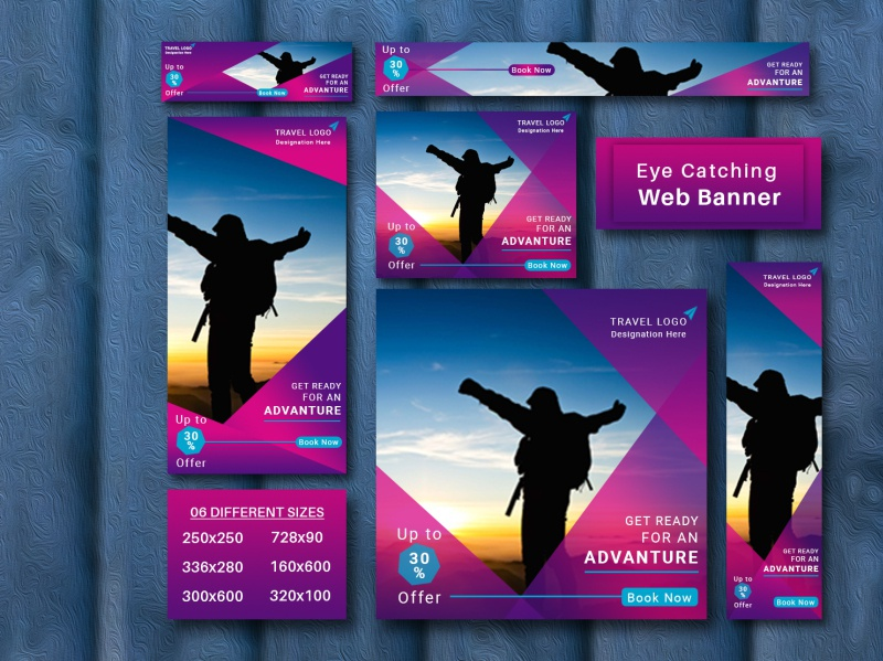 Web Banner Set website design illustration modern brand advertising presentation website facebook cover facebook banner youtube cover social media abnner web banner ad google ads website banner web banner design web banner