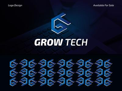 Grow Tech Logo Concept logo designs modern logo 3d logo tech logo design logo design creative logos branding corporate logodesigner advertising brand logo
