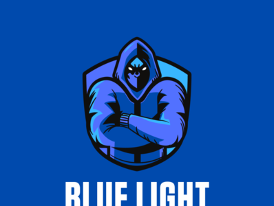 blue light ui web app ux icon logo design
