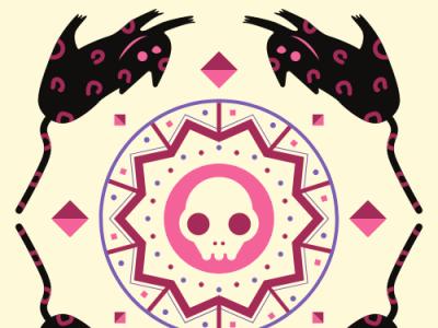 dead cats art website ui illustration web ux app logo icon design