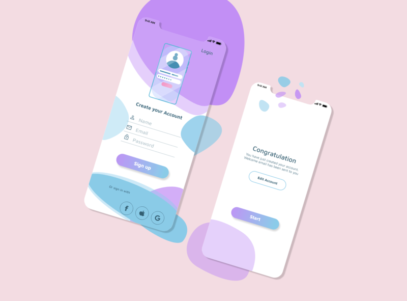 Sign up / Cleaning Service App art vector ux ui app illustration design