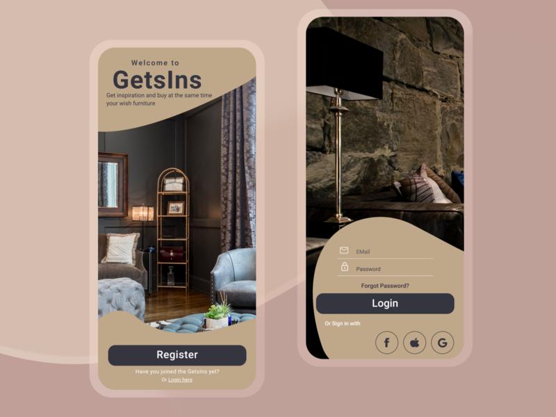 Shopping App minimal ux ui design app