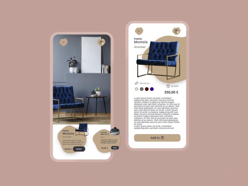 shopping app minimal ui ux design app