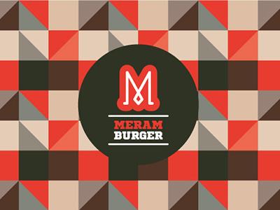 Meram Burger  pattern emblem logo burger