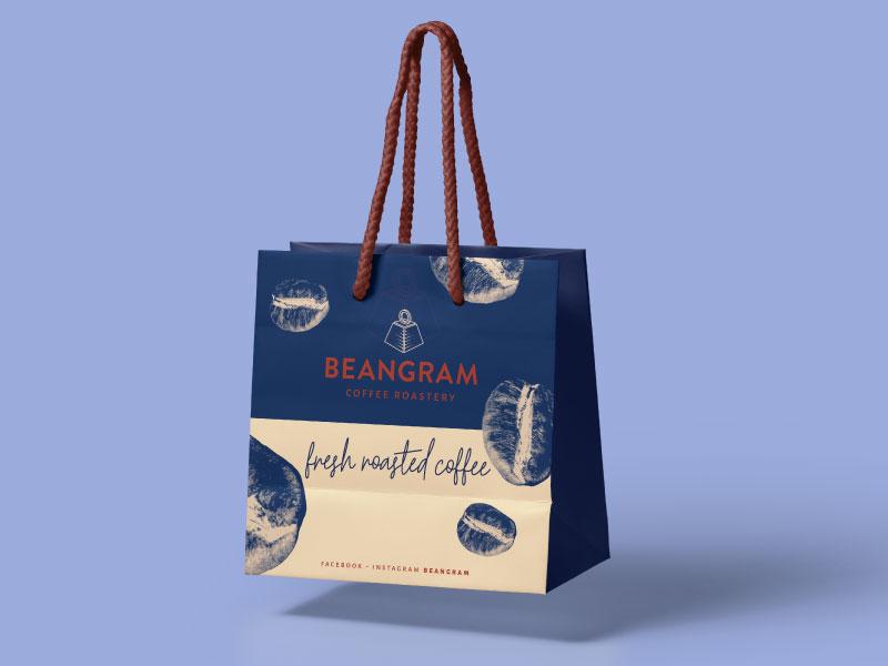 Beangram packaging branding coffee packaging