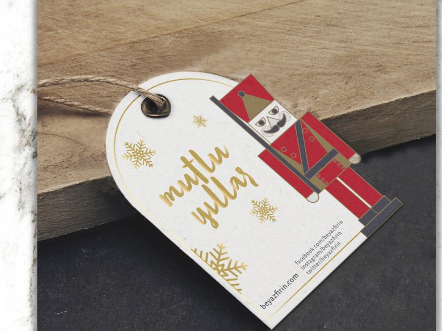 The nutcracker branding design tag illustration