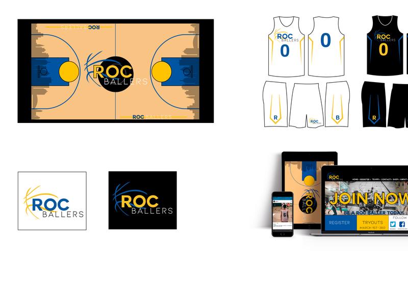 Roc Ballers branding logo design illustration