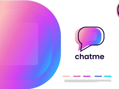Chat colorful logo design - logo designer branding agency identity designer flat logo cretive message chat gradient colorful minimal abstract illustration logo design design brand identity logo o p q r s t u v w q y z a b c d e f g h i j k l m n logotype branding logo designer