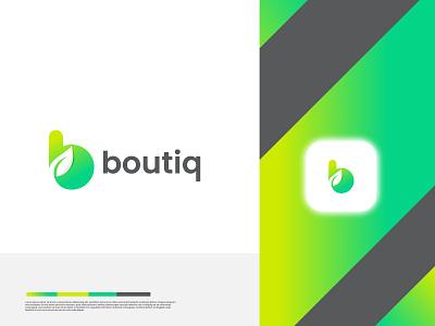 boutiq logo | leaf logo letter b letter modern logo b letter logo b logo bioleaf bio boutiq leaf top ecommerce ui logotype logo designer brand identity modern logo design illustration a b c d e f g h i j k l m n logo branding