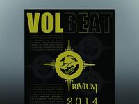 Volbeat/Trivium Concert Poster