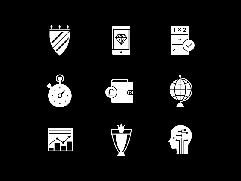 Icons 2 shield innovation winner iconset icons icon wallet globe betting graph diamond consulting