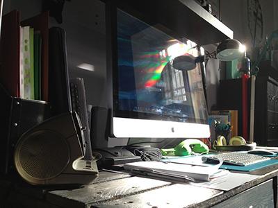 Beautiful light on my desk home apple monitor imac inspiration light