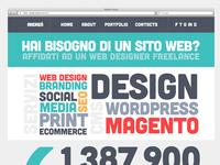 Flat Portfolio Typography Home Page