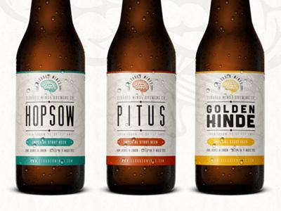 Beer Label for home brewing company beer label beer label bottle vintage font font typography