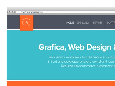 Restyling sito web personale webdesign restyling home flat design colorful contrast