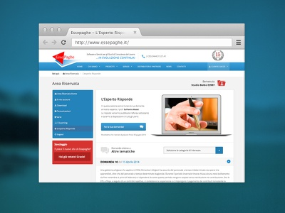 Essepaghe - Esperto Risponde restyling webdesign user area user faq questions macbook