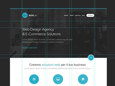 1604lab Home Page Design home homepage webdesign webagency corporate web