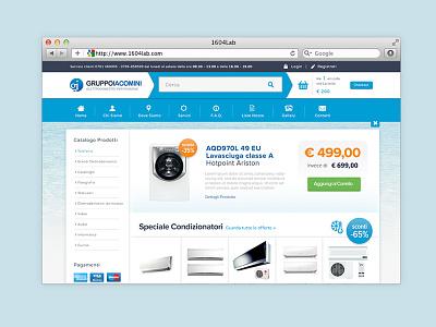 IacominiGruppo Iacomini Restyling Home Page eCommerce ecommerce magento design restyling homepage sea