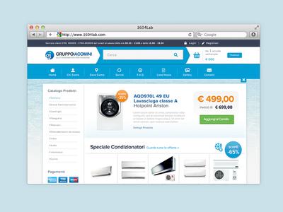 IacominiGruppo Iacomini Restyling Home Page eCommerce