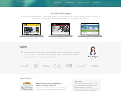 Final Home Page Layout website portfolio home page homepage home blur blurred imac macbook macbook pro services screenshot call to action money ui