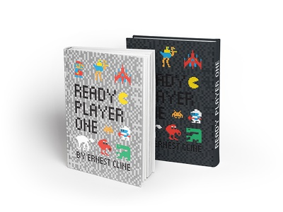 Ready Player One qbert dig dug asteroids pacman galaga joust mario ready player one ernest cline video games mockup book cover