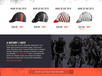 Cycling Hat Landing Page