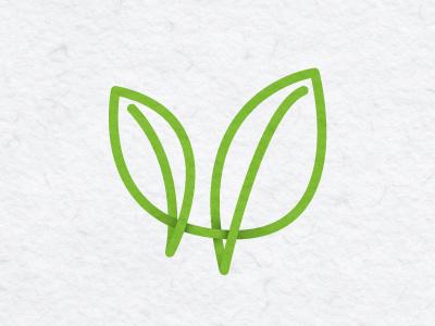 Verdant Wellness Logomark logo logomark leaves vw
