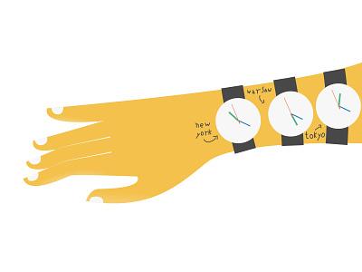 time management hand time illustration