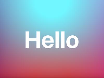 Hello generative color gradient color gradient png jsx