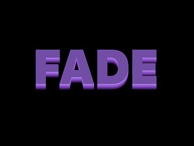 Fade generative sans-serif purple css3 text shadows 3d typography webdesign css 3d type