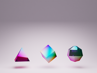 Staged Glass 3d animation brand motion 3d
