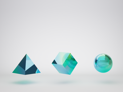 Animation frame geometry green 3d motion design animation